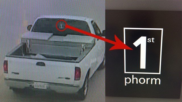 Police believe the suspect is driving this white Ford F-150. Credit: Town and Country PD