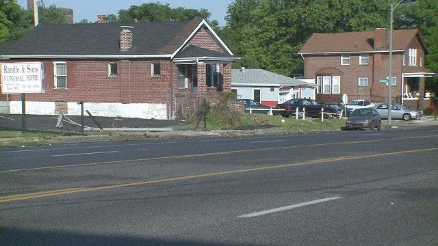 2-year-old injured after accident at the corner of Natural Bridge and Cora on Saturday. (Credit: KMOV)