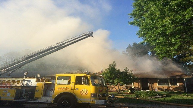 3-alarm fire breaks out at home in Cahokia, Ill. (Credit: KMOV)