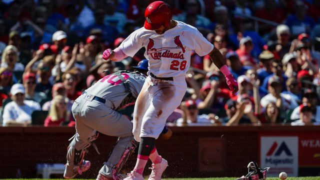 Happ homers in MLB debut, Cardinals beat Cubs 5-3
