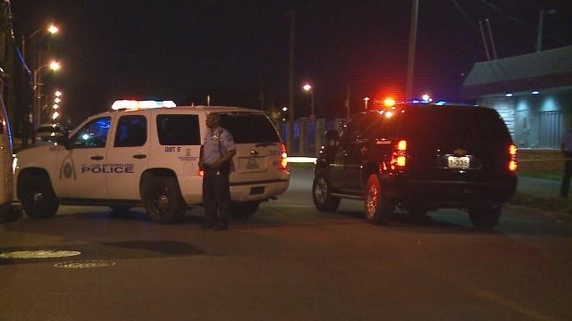 Homicide investigating after man shot in North St. Louis . (Credit: KMOV)
