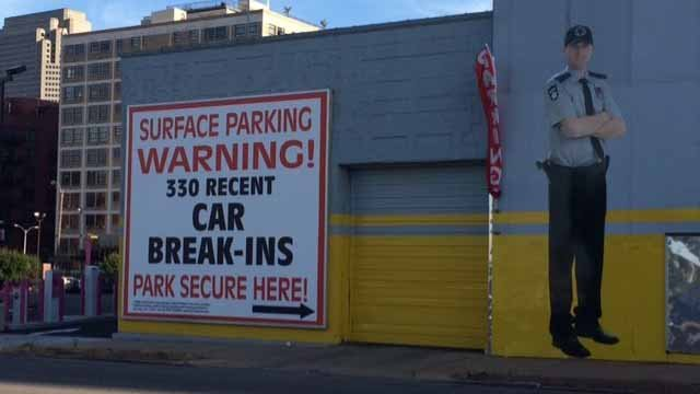 Patrick Hamill put up this sign to warn against car break ins. Credit: KMOV