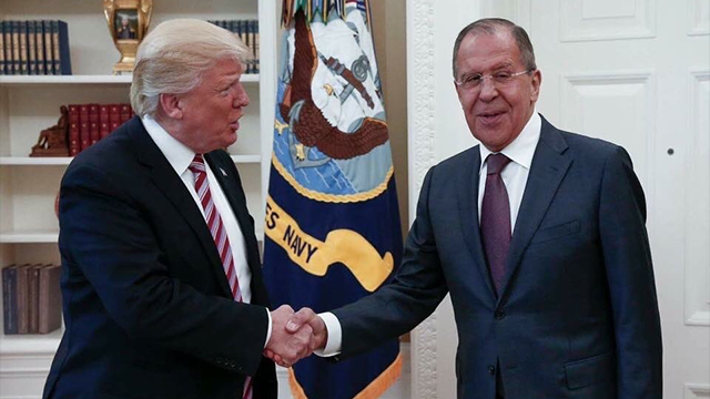 (Russian Foreign Ministry via AP) The Washington Post is reporting that Trump revealed highly classified information about Islamic State militants to Russian officials during a meeting at the White House last week.