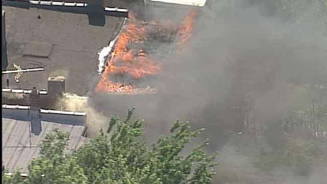 The blaze in the 3900 block of Miami. Credit: KMOV