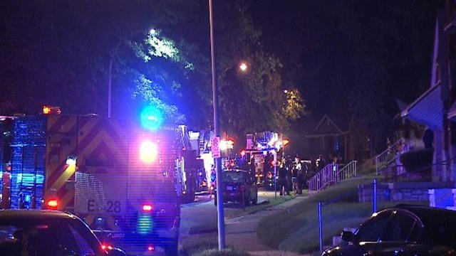 A firefighter was injured during a fire on Vivian Tuesday night (Credit: KMOV)