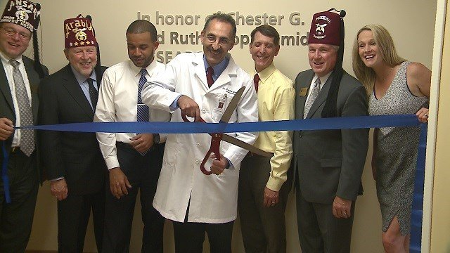 On Wednesday afternoon, Shriner's Hospitals for Children celebrated the opening of a new research lab. (Credit: KMOV)