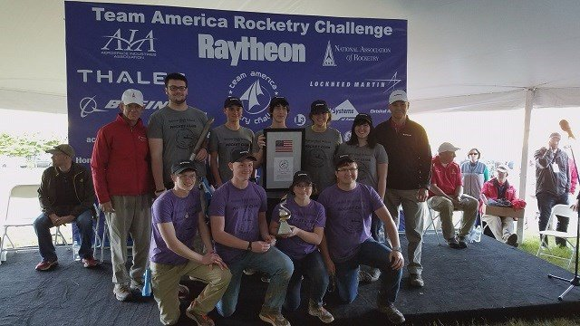 The rocket club from Festus High School won first place at the Team America Rocketry Challenge in Washington D.C. on Saturday. (Credit: KMOV)
