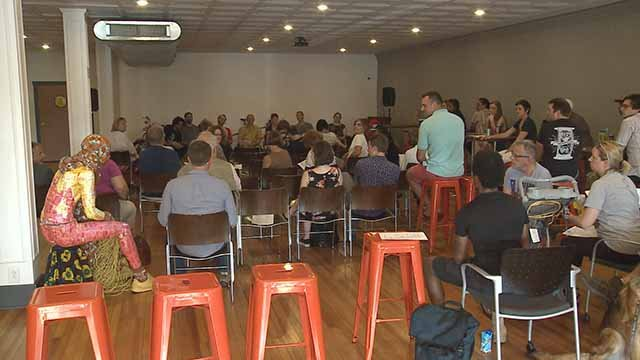 Business and residents of Cherokee Street discuss a plan to fight crime. Credit: KMOV