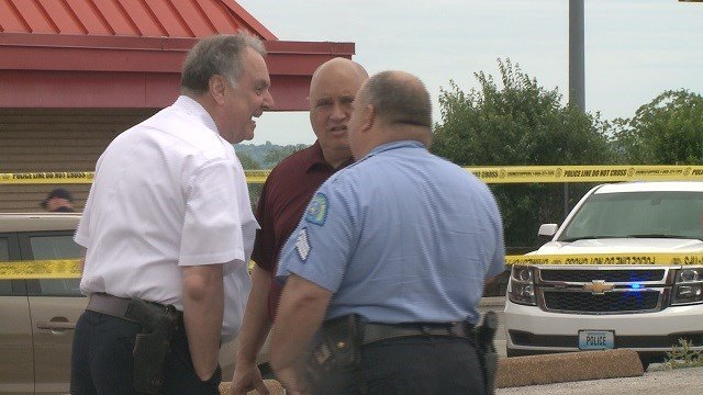 An officer-involved shooting has left one person in the hospital on Saturday.. (Credit: KMOV)
