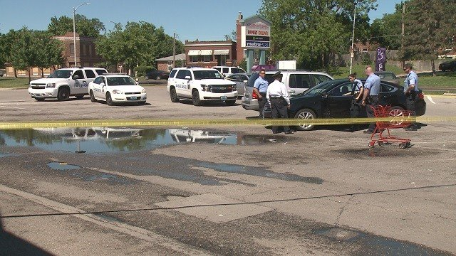 A man was shot in the thigh on South Broadway Sunday morning. (Credit: KMOV)