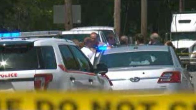 Officer on the scene after an officer was grazed by a bullet in Velda City (Credit: KMOV)