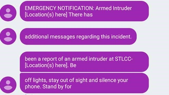 An intruder alert was accidentally sent out to staff and students at STLCC- Forest Park on Monday afternoon. (Credit: KMOV)