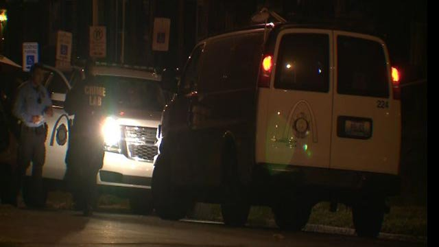Investigators in the 5700 block of St. Louis Avenue Tuesday (Credit: KMOV)
