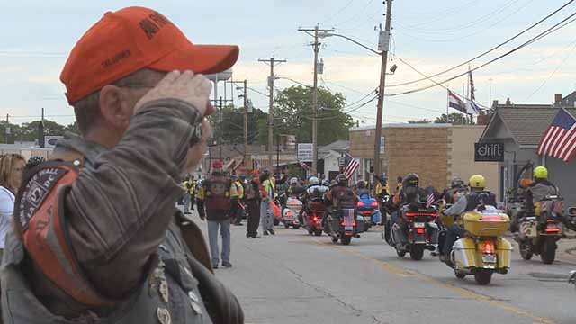 Riders with Run For the Wall passed through Wentzville on their way to Washington D.C. Credit: KMOV