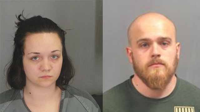 Richard Gamache is charged with first-degree child abuse and Cheyenne Cook is charged with endangering the welfare of a minor. (Jefferson County Sheriff's Office)