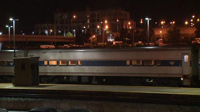 The Amtrak from Chicago to St. Louis arrived at 3:30 a.m. Wednesday (Credit: KMOV)