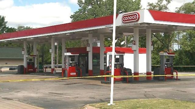 A man was shot and killed outside this North County gas station Thursday (Credit: KMOV)