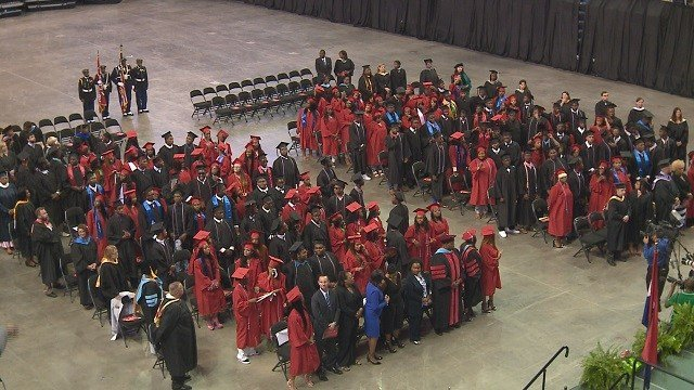 160 students received their high school diplomas at Jennings High School. (Credit: KMOV)