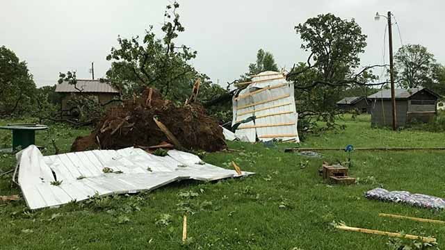 Damage in Edgar Springs, Mo. in Phelps County. Credit: Matthew Mansfield
