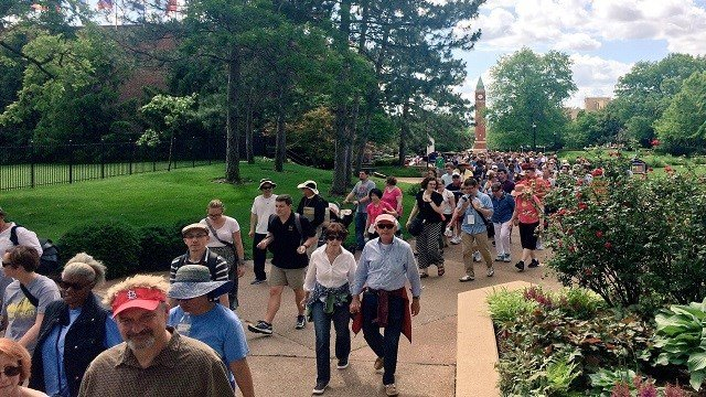 "Hundreds came out for ""Walk of Trust"" event. (Credit: KMOV)"