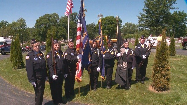 A ladies auxiliary color guard did not exist in Missouri until today. In Crystal City, the women made their debut at a special Memorial Day ceremony.  (Credit: KMOV)