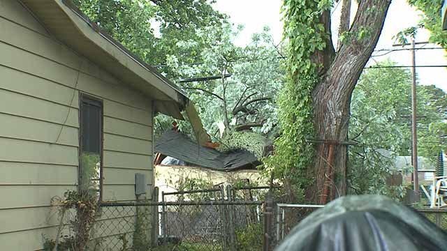 Storms were responsible for damage in Granite City on Memorial Day. Credit: KMOV