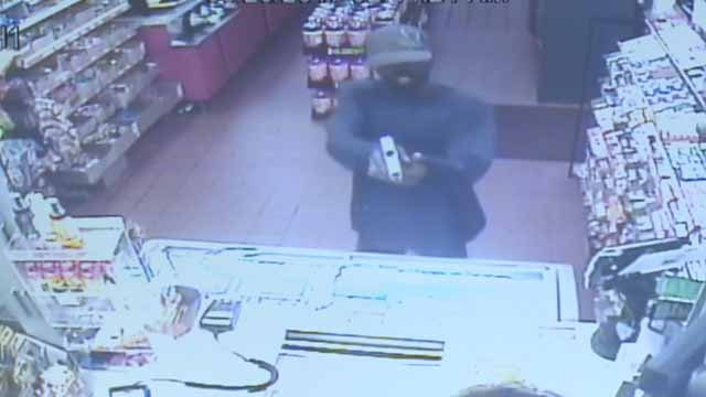 Police say this man robbed a Conoco gas station on Lucas and Hunt in Hillsdale on Memorial Day. Credit: Hillsdale PD