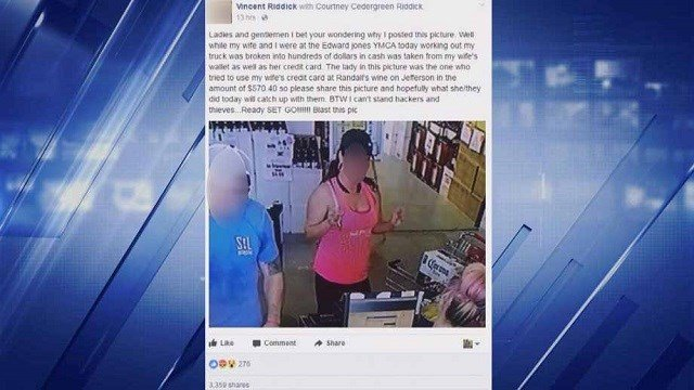 The story of a crime victim taking matters into their own hands, turning to Facebook to catch a suspected thief. (Credit: Facebook)