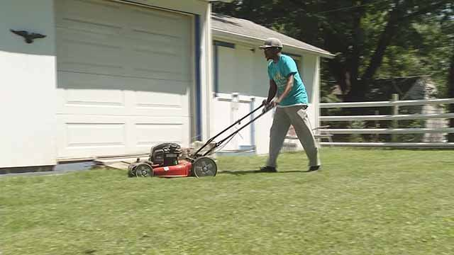Rodney Smith is hoping to cut lawns in all 50 states. Credit: KMOV