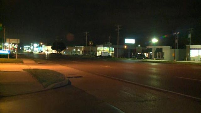 Area in Ballwin where a man was stabbed during a road rage incident Wednesday (Credit: KMOV)