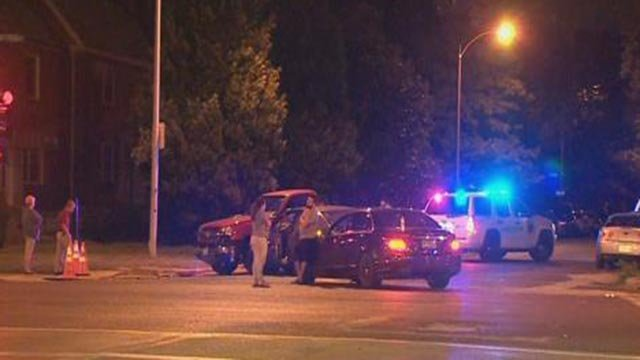 Police on Loughborough near Hampton Thursday (Credit: KMOV)