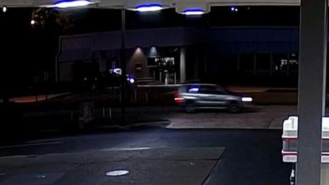 Surveillance photo of suspect vehicle after man stabbed in Ballwin (Credit: Police)