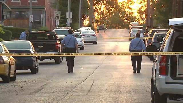 A 2-year-old child hit by a car in north St. Louis Wednesday. (Credit: KMOV)