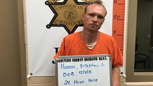 Matthew Hamm is accused of killing his 1-year-old son and burning the body (Credit: Officials)