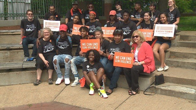 Community members gather at gun violence awareness rally on Saturday. (Credit: KMOV)