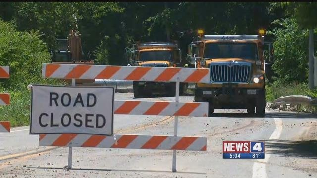 A section of Route M near Barnhart may be closed until September  due to a landslide. Credit: KMOV