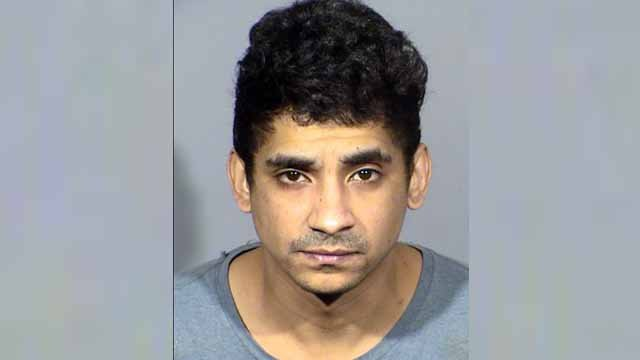 Jason Quate, 34, is charged with sex trafficking of an adult  and accepting/receiving earnings of a prostitute. (Credit: Las Vegas PD)