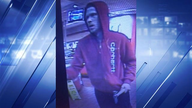 Surveillance photo of the robbery suspect (St. Charles County Police Department)