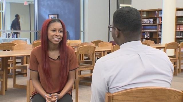 "Nicquayleeonntea Moore is a recent graduate of East St. Louis High School, apart of the ""Running Start"" program. (Credit: KMOV)"