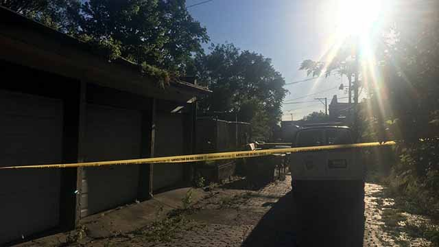 A body was found in an alley in the 3100 block of Wyoming Wednesday evening. Credit: KMOV