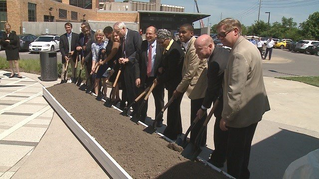 Ground breaking ceremonies were held on Thursday afternoon for the new station at the Cortex Business Center in the Central West End. (Credit: KMOV)