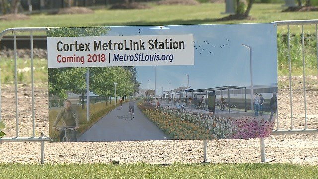 The new Metro station is part of a larger project that will improve infrastructure in the area, and add a new bike and pedestrian path. (Credit: KMOV)
