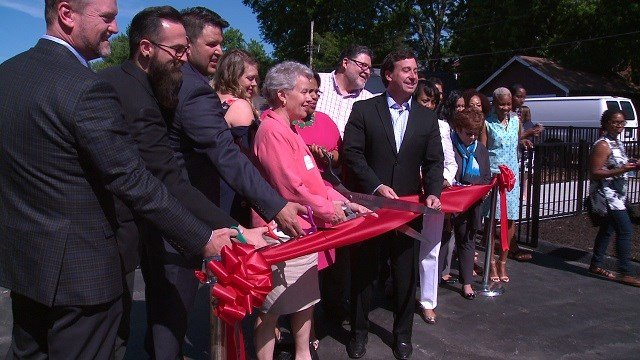 There was a ribbon cutting on Thursday morning for the new Urban Sprouts Center. (Credit: KMOV)
