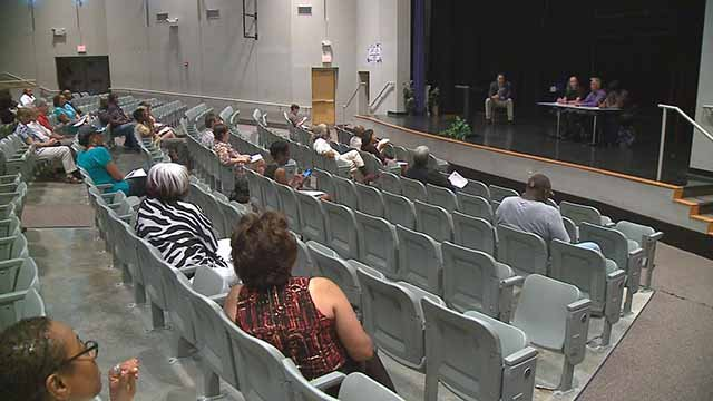 St. Louis residents had a chance Thursday to weigh in on what they want to see in a new police chief. Credit: KMOV