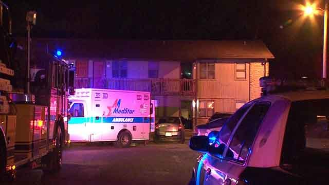 Crews respond to a fire at an apartment building in Cahokia on Friday, June 9, 2017 (Credit: KMOV)