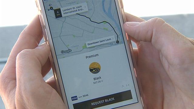 'Uber Premium' only price option for Lambert Airport pickups. (Credit: KMOV)
