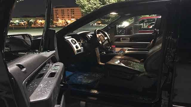 This was one of several cars in the Delmar Loop that were broken into on Saturday, June 10, 2017