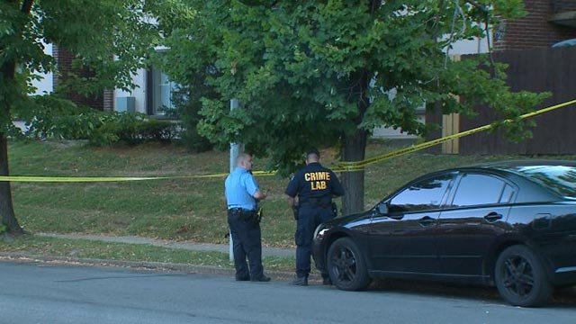 Police on scene of a shooting in the Dutchtown neighborhood Tuesday (Credit: KMOV)
