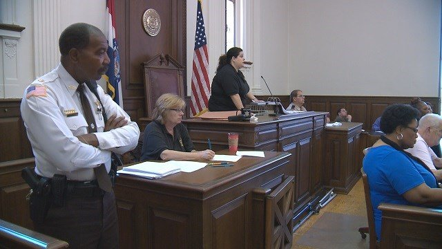 St. Louis City auctioned off more than 250 foreclosed homes on Tuesday in the Civil Courts Building downtown. (Credit: KMOV)
