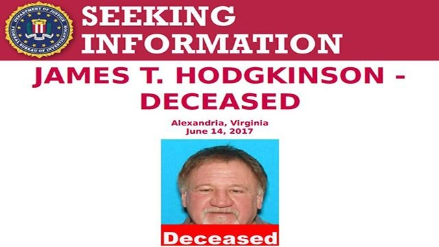 Part of a flier from the FBI regarding Hodgkinson (Credit: FBI)